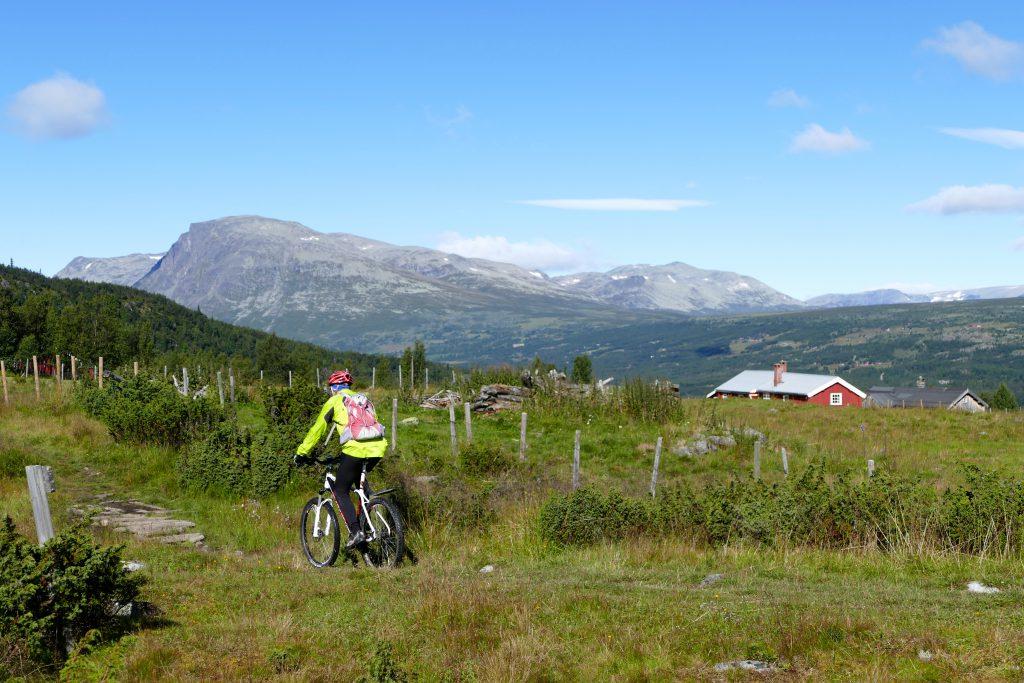 Nøreli byr på stordlagen utsikt til Lykkja og Skogshorn