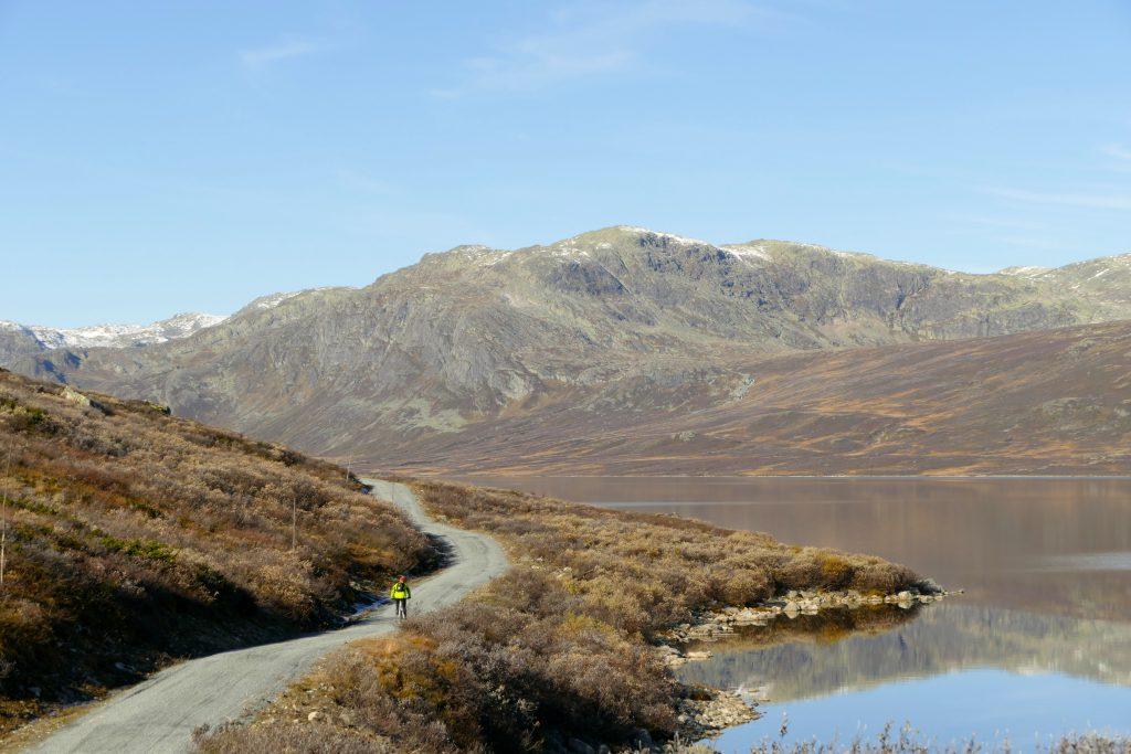 Fint å sykle langs Gyrinosvatnet