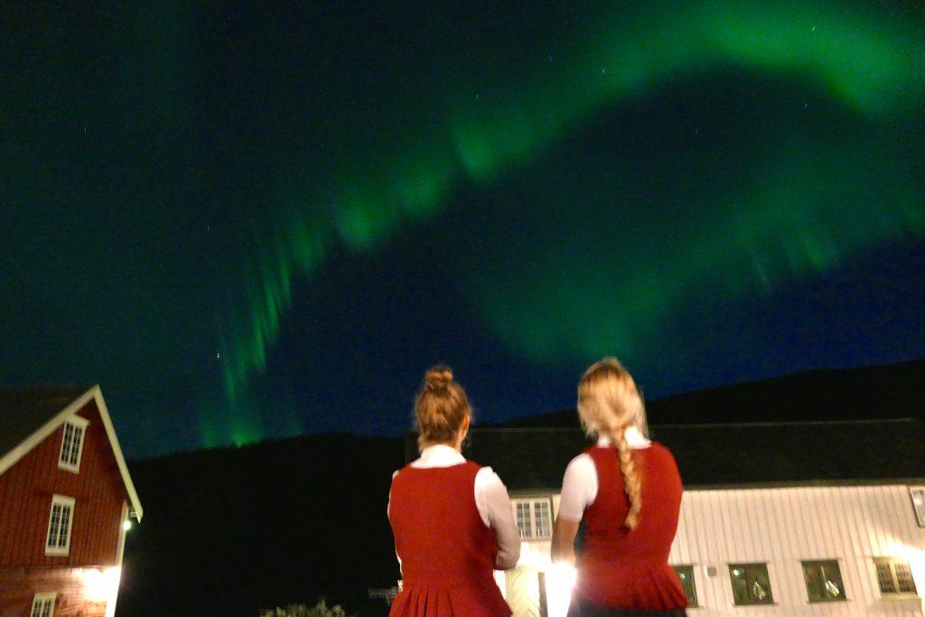 Nordlyset danser over Kongsvold