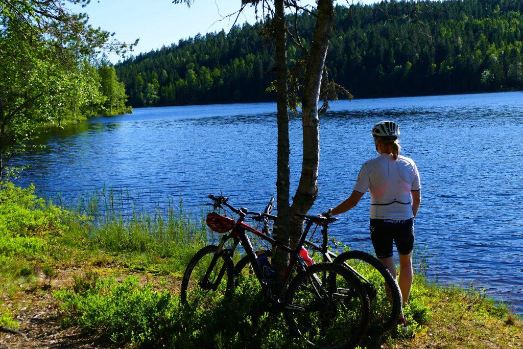 Oslomarka med Krokskogen byr på fin sykling