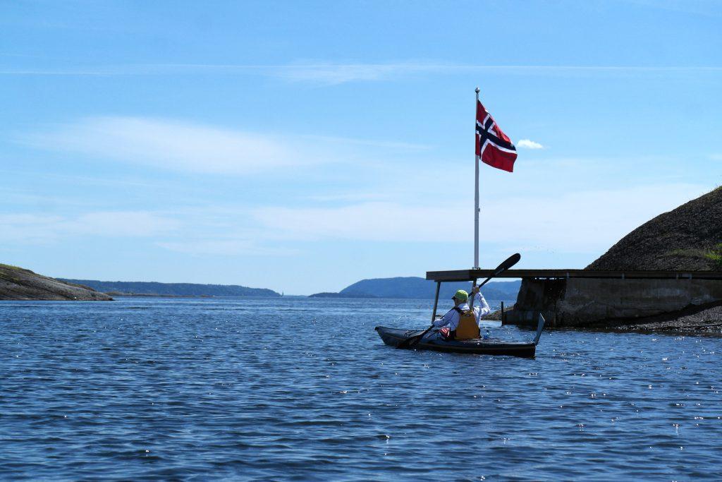 Nasjonaldagen i kajakk på Oslofjorden, det er feiringen sin det!